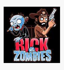 Rick vs Zombies Photographic Print