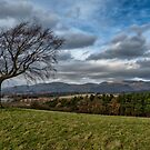 Ochil Hills view from Clackmannan Tower by Jeremy Lavender Photography