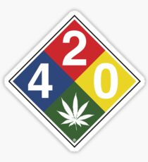 420 Caution Sign Fun Sticker