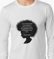 Audre Lorde Silhouette (black) Long Sleeve T-Shirt