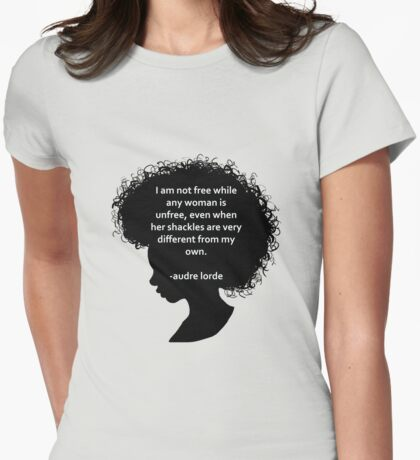 Audre Lorde Silhouette (black) Womens Fitted T-Shirt