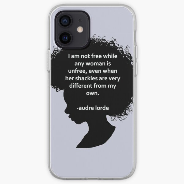 Audre Lorde Silhouette (schwarz) iPhone Flexible Hülle