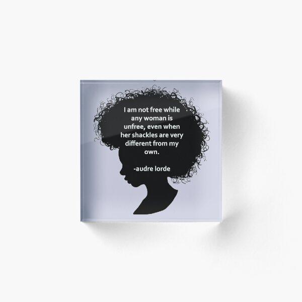Audre Lorde Silhouette (black) Acrylic Block