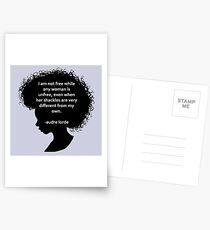 Audre Lorde Silhouette (schwarz) Postkarten