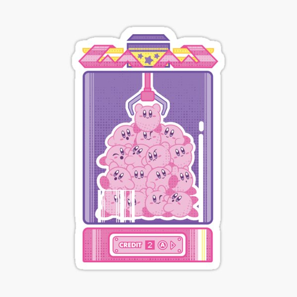 Kirby - Arcade Machine Sticker