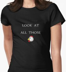 VINE: Look at all those chickens! Women's Fitted T-Shirt