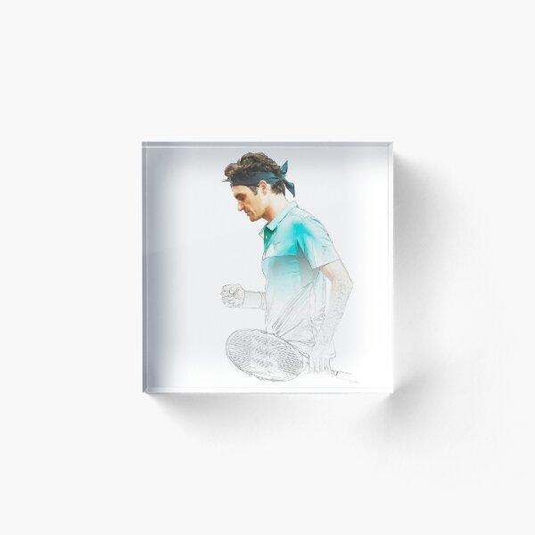 Roger Federer Acrylic Block