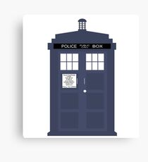 Blue Tardis Doctor Who | Cult tv Canvas Print