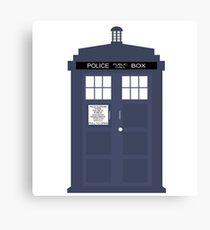 Blue Tardis Doctor Who | Cult tv Canvas Print