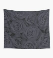 Black Spectacular Roses Wall Tapestry