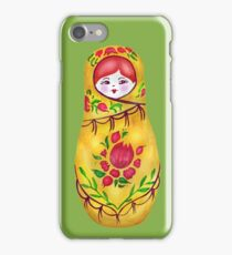 Matryoshka on Greenery. Pantone Color of the Year 2017 iPhone Case/Skin