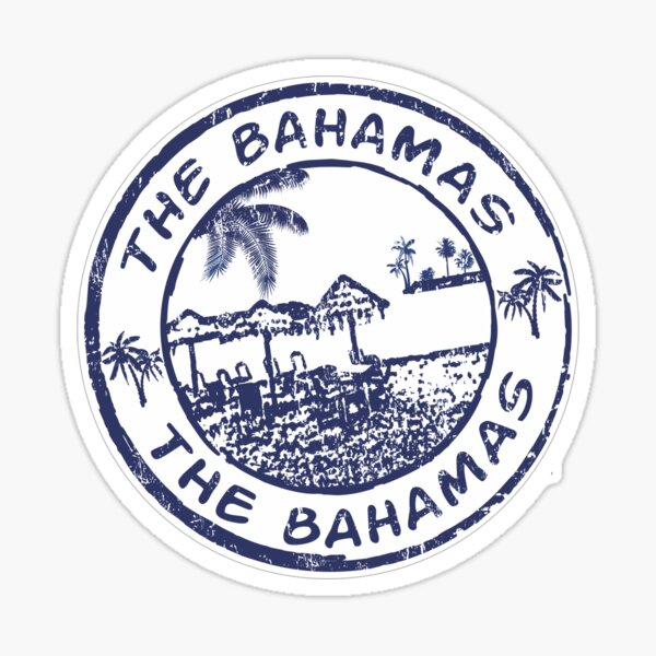 The Bahamas Travel Stamp Sticker