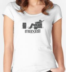 Maxell (black) Women's Fitted Scoop T-Shirt