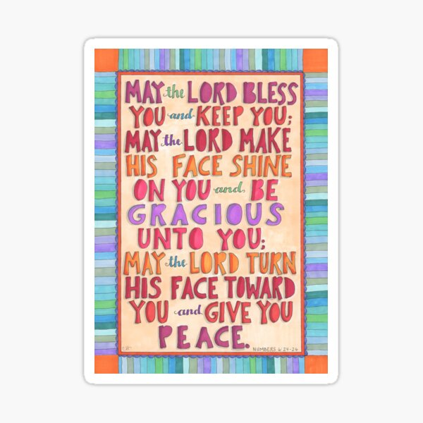 Numbers 6:24 -26 Blessings to you Sticker