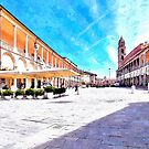 Square with buildings by Giuseppe Cocco