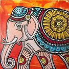 Pink Elephant on Parade by Lynnette Shelley