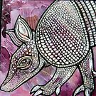 Armadillo at Sunset by Lynnette Shelley