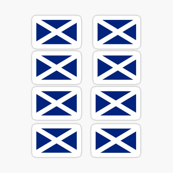 Scottish Independence Flag Stickers - Scotland Sticker Sheet Sticker