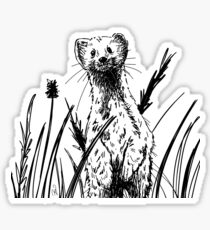 Your friendly neighborhood Weasel Sticker