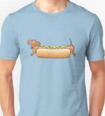 Sausage Dog In A Bun! Unisex T-Shirt