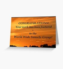 World Wide Sunsets Feature Banner Greeting Card