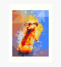 Colors of Fluff - Bunny portrait Art Print