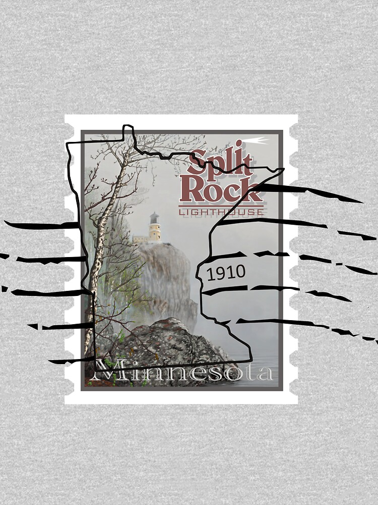 Split Rock Lighthouse Stamp with cancellation by tsarts