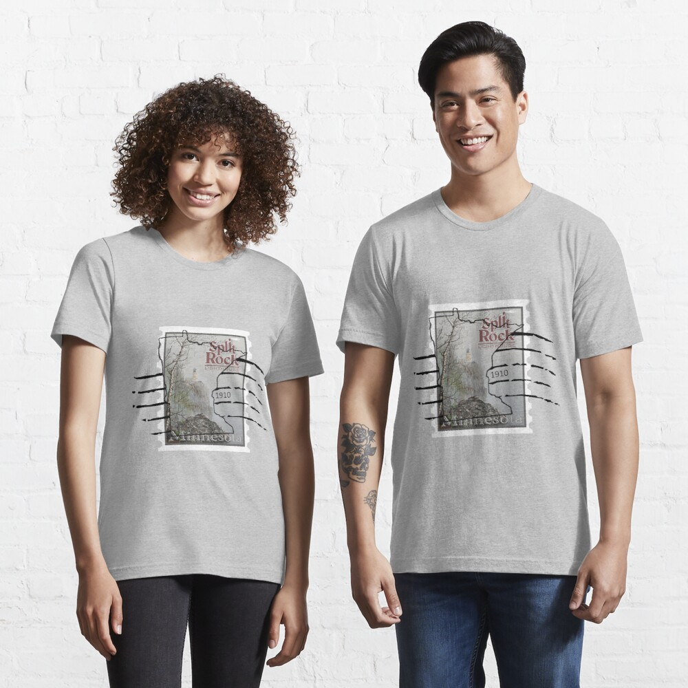 Split Rock Lighthouse Stamp with cancellation Essential T-Shirt