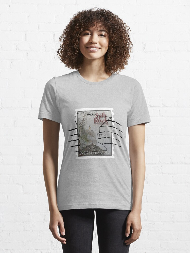 Alternate view of Split Rock Lighthouse Stamp with cancellation Essential T-Shirt