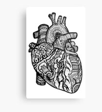 Anatomical Heart Zendoodle Metal Print