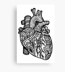 Anatomical Heart Zendoodle Canvas Print