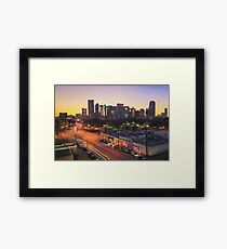 Dallas Skyline From Deep Ellum Framed Print