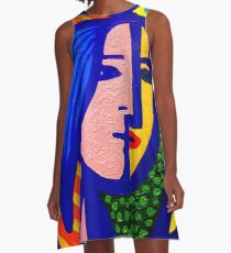Homage To Picasso  A-Line Dress