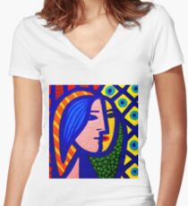 Homage To Picasso  Women's Fitted V-Neck T-Shirt