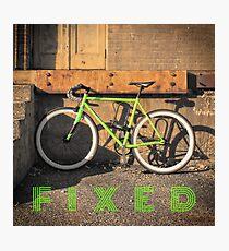Green Fixie Photographic Print