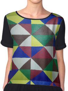Bold Triangle Pattern Chiffon Top