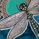 Blue Dragonfly by Lynnette Shelley