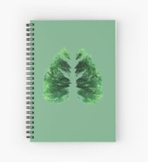 Natures Breath Green Spiral Notebook