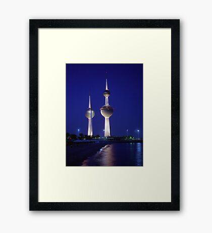 Kuwait Towers Framed Print