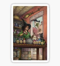 Everyday Witch Tarot - Eight of Pentacles Sticker
