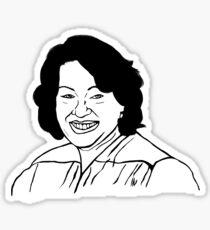 Richter am Obersten Gerichtshof Sonia Sotomayor Line Art Sticker