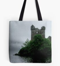 Out of the gloom - Urquhart Castle.......! Tote Bag