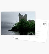 Out of the gloom - Urquhart Castle.......! Postcards