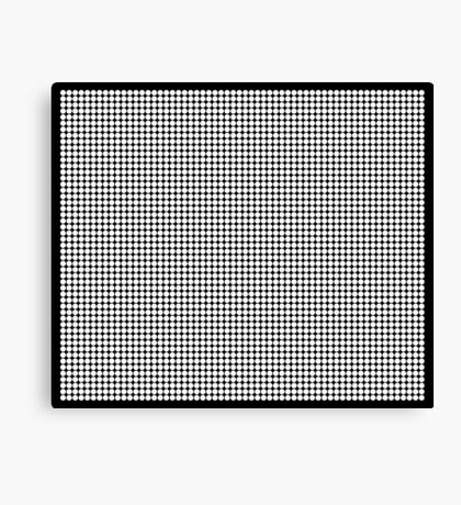 White Polka Dots  Canvas Print