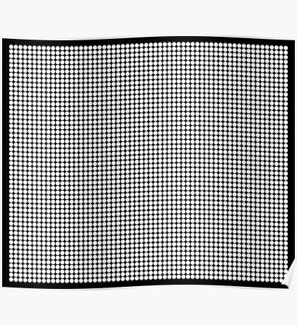 White Polka Dots  Poster