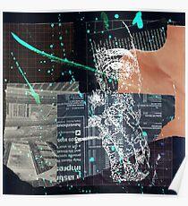 Distortion 1 Collage - Black Poster
