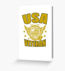 USA VETERAN Gifts Disabled Americans Retired Vets  Greeting Card