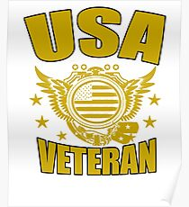 USA VETERAN Gifts Disabled Americans Retired Vets  Poster