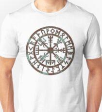 Vegvísir (Icelandic 'sign post') Symbol - aqua grunge T-Shirt