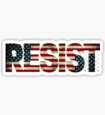 'RESIST' USA Protest Flag  Sticker